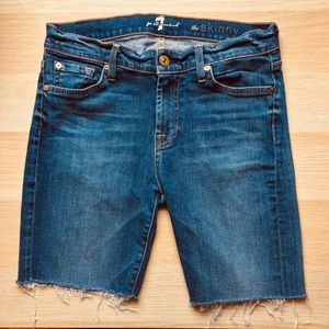 7 For All Mankind The Skinny Bermuda Jean Shorts